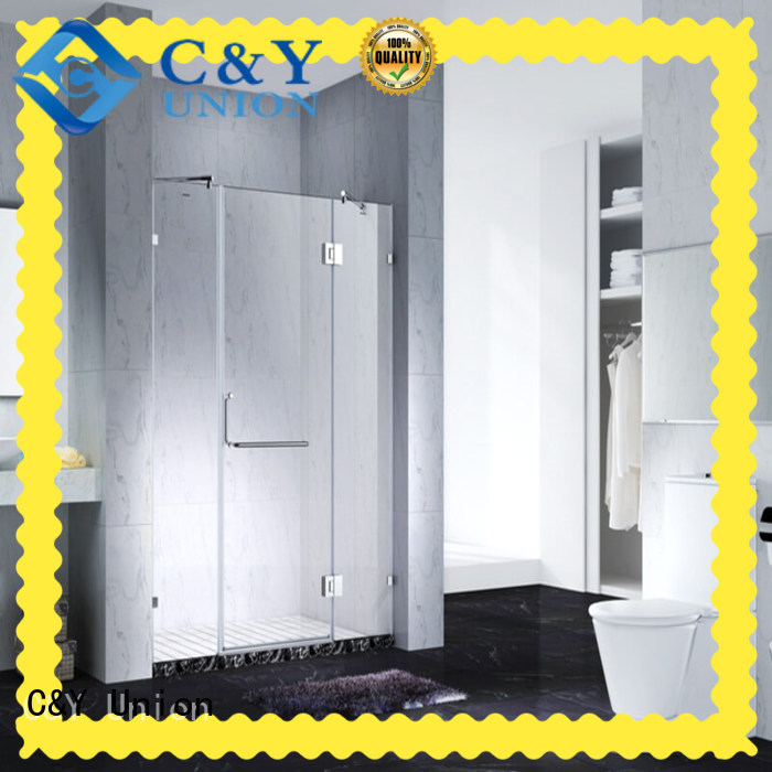 semi frameless shower door shower for bathtub C&Y Union