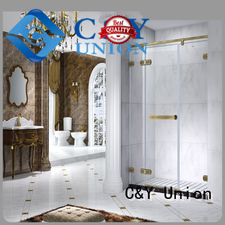 C&Y Union practical bathroom glass door cy12421 for bathroom