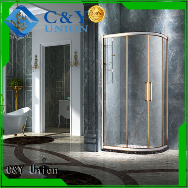 practical shower cabin with sliding door for bath