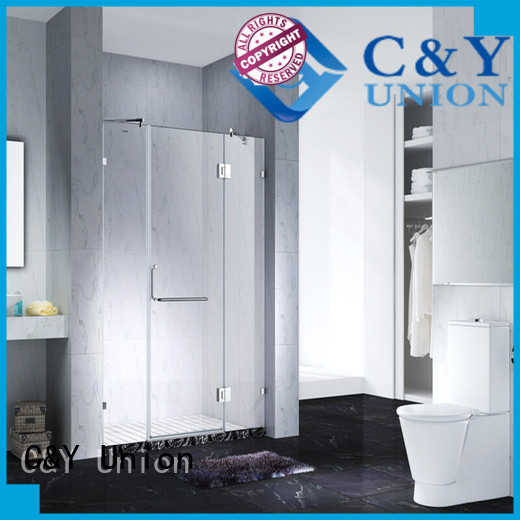 C&Y Union stable frameless glass shower doors cabin for bagnio
