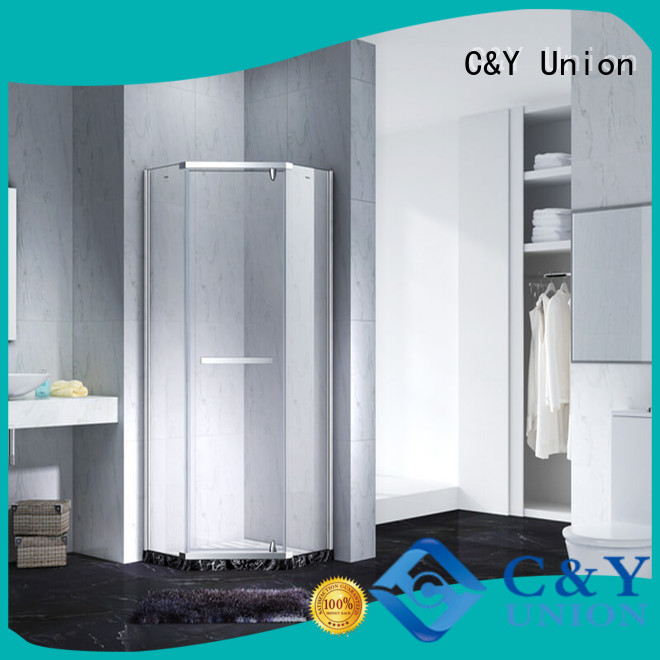 C&Y Union frameless shower shower panels for bathroom