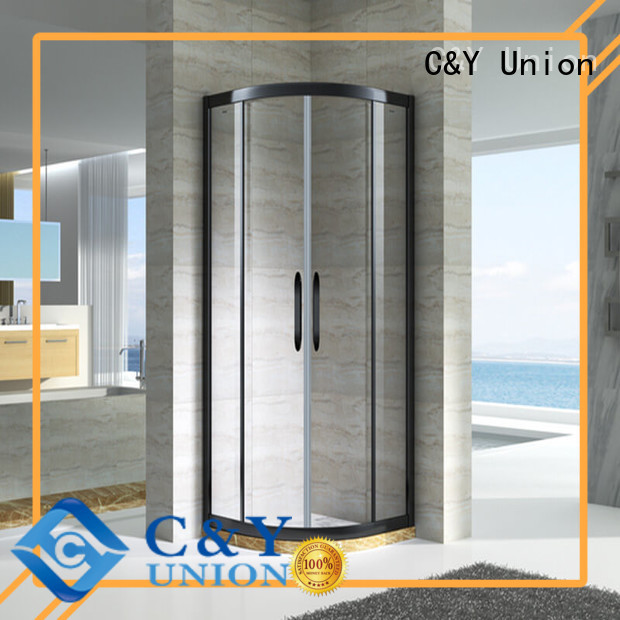 C&Y Union semi framed shower with sliding door for corner