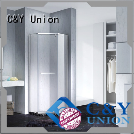 C&Y Union frameless glass doors shower screen for bagnio