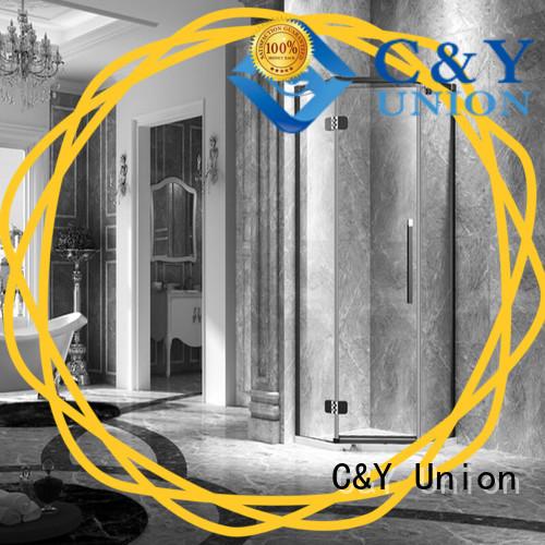 C&Y Union frameless shower screen shower panels for bagnio