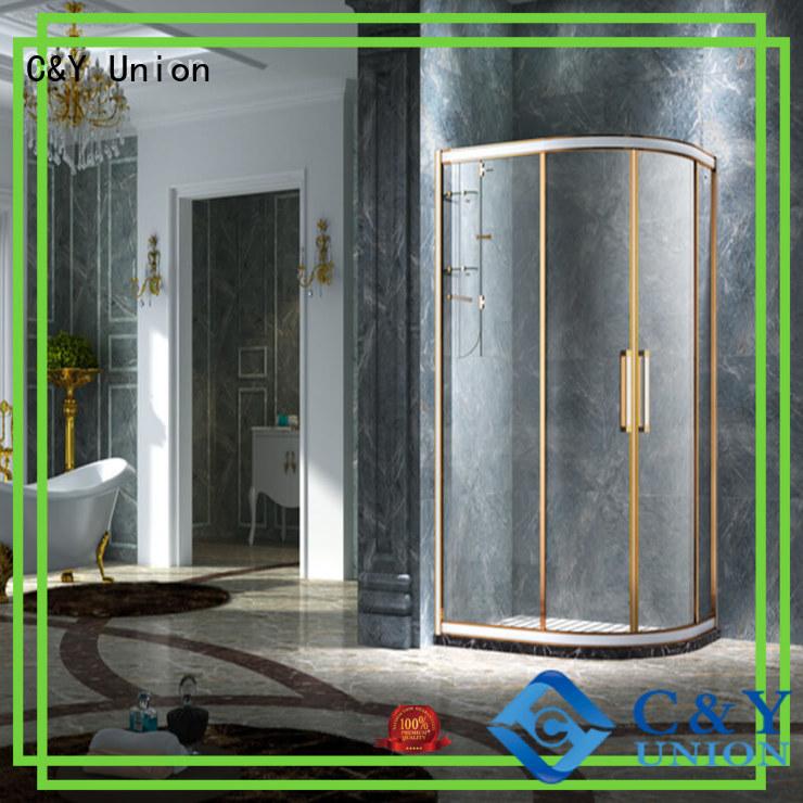 elegant semi framed shower with sliding door for bath