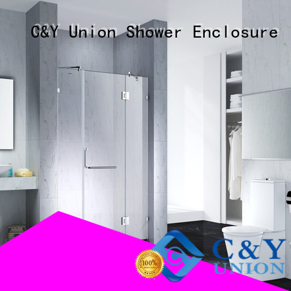 C&Y Union glass shower enclosures shower screen for bath