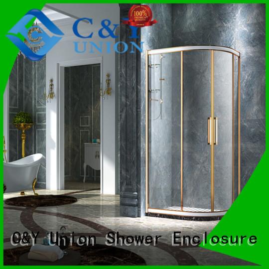 C&Y Union framed glass shower for bath