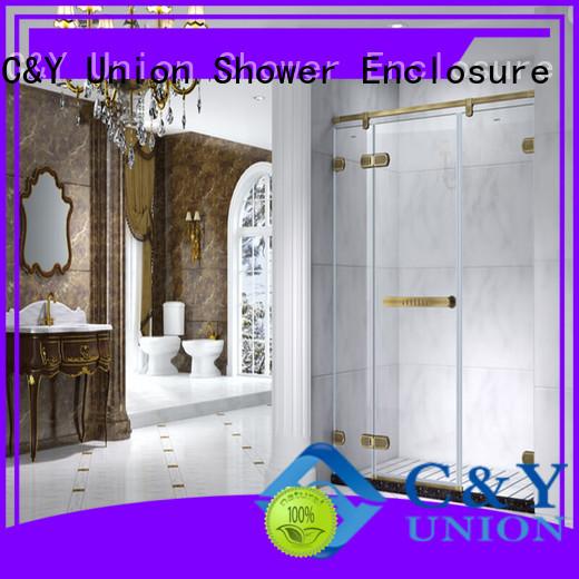 C&Y Union semi frameless shower door cabin for bathroom