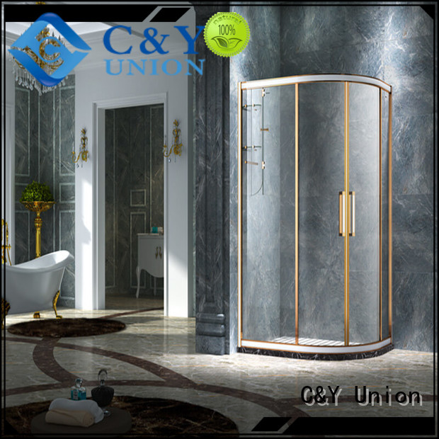 C&Y Union framed glass shower door for sale for bathroom