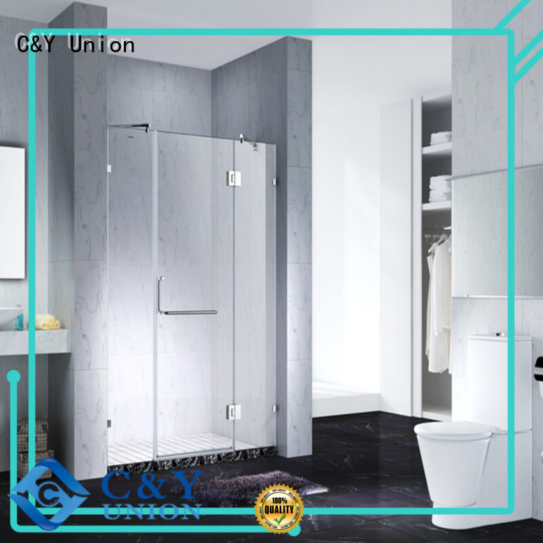 elegant frameless shower screen for bathroom