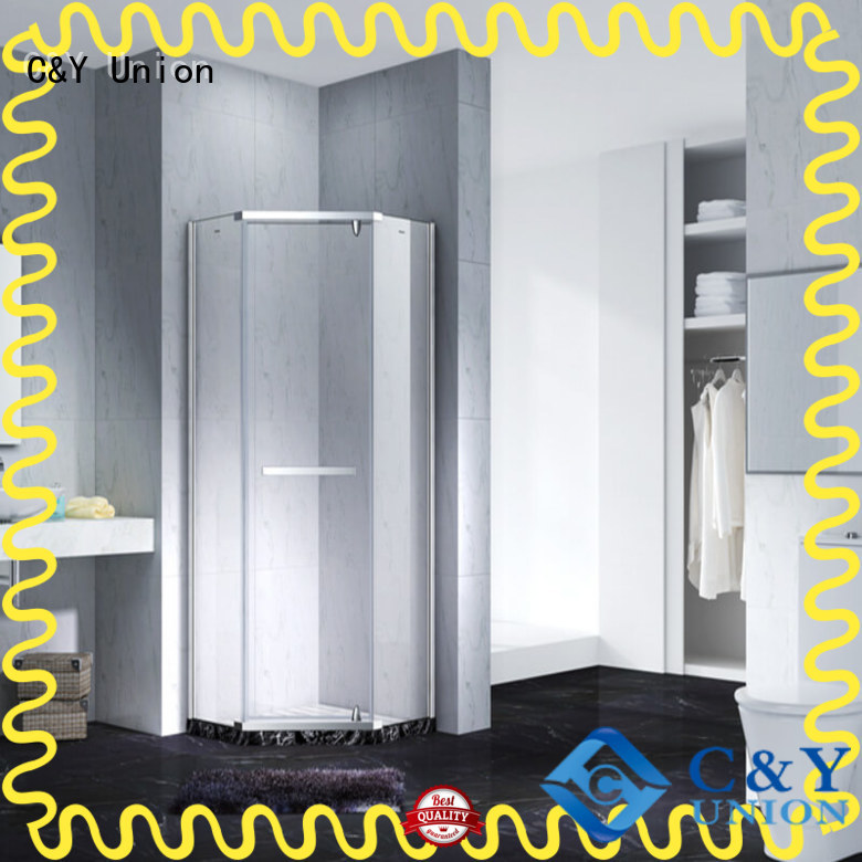 C&Y Union frameless shower screen factory for bathtub