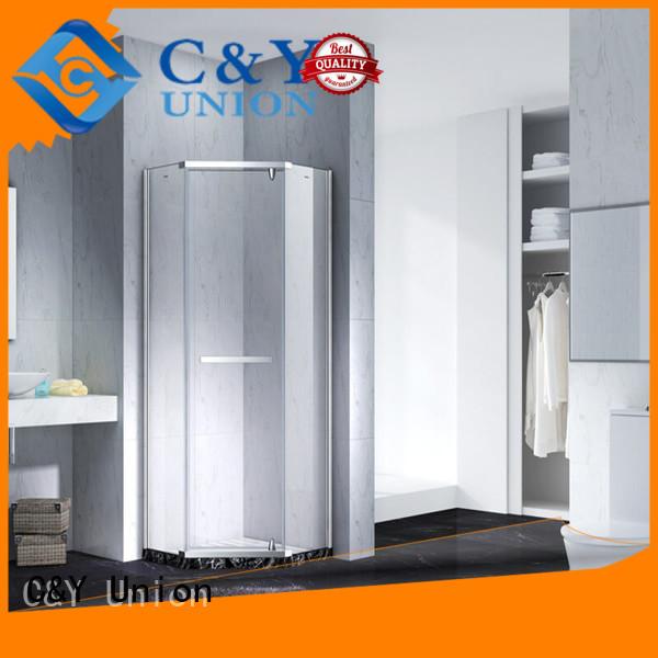 C&Y Union frameless shower enclosure factory for bathtub