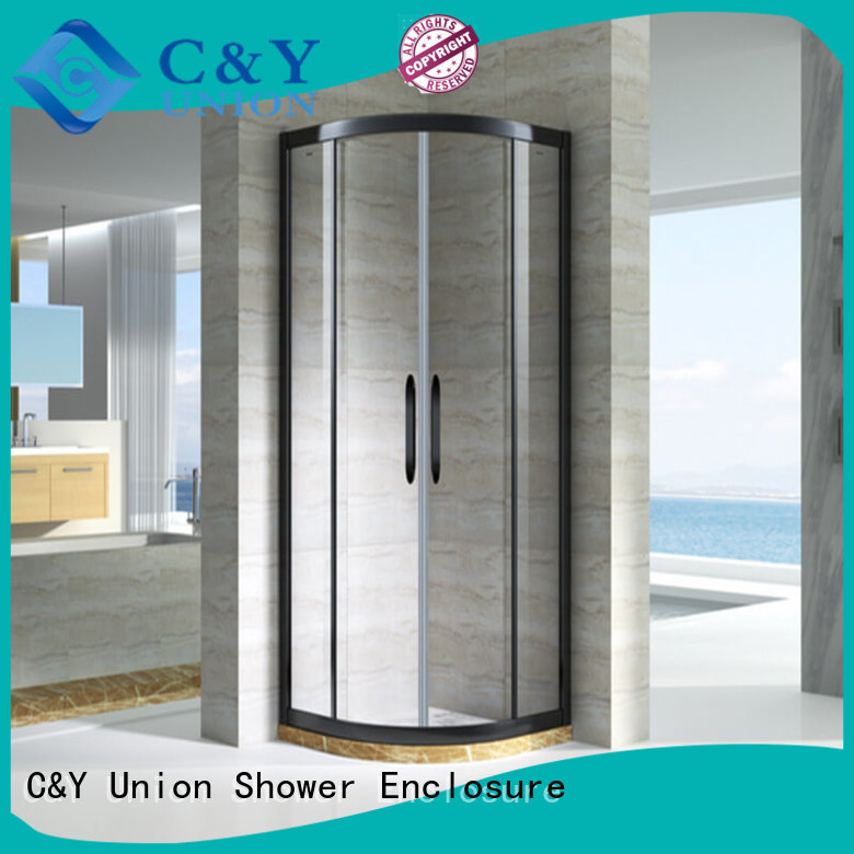 C&Y Union popular semi framed shower manufacturer for alcove