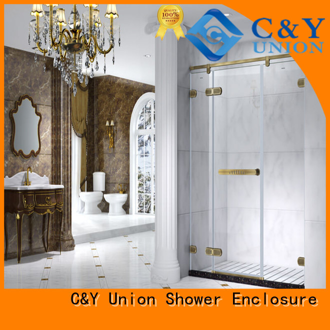 C&Y Union stable frameless glass doors cubicles for bagnio