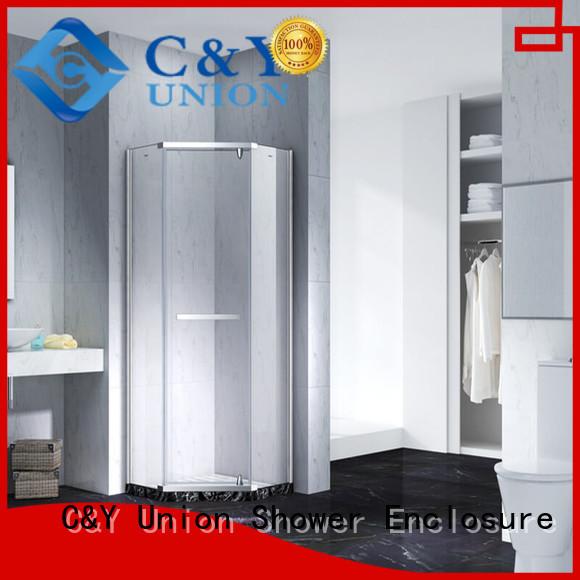 C&Y Union frameless shower enclosure factory for bath