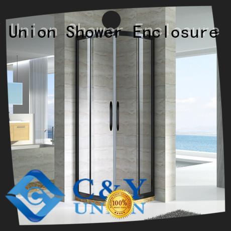 C&Y Union semi framed shower with sliding door for bathtub showers