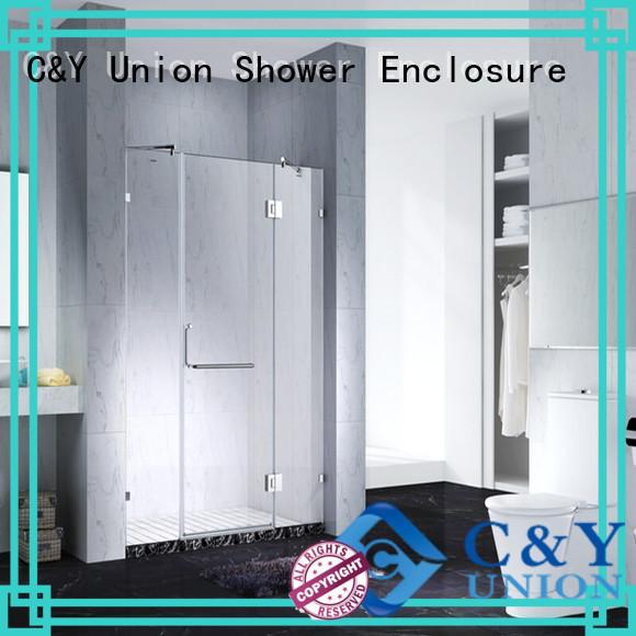 C&Y Union frameless glass doors cubicles for bath