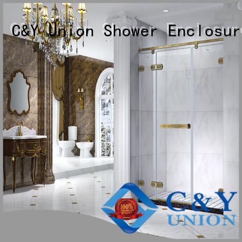 C&Y Union frameless shower factory for bathtub