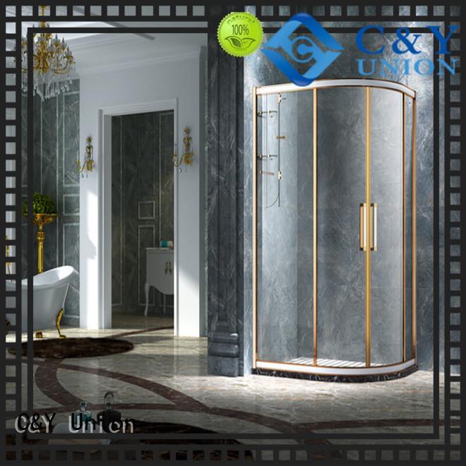 stainless steel framed shower glass doors manufacturer for corner