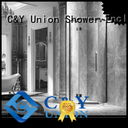 C&Y Union frameless shower cubicles for bagnio