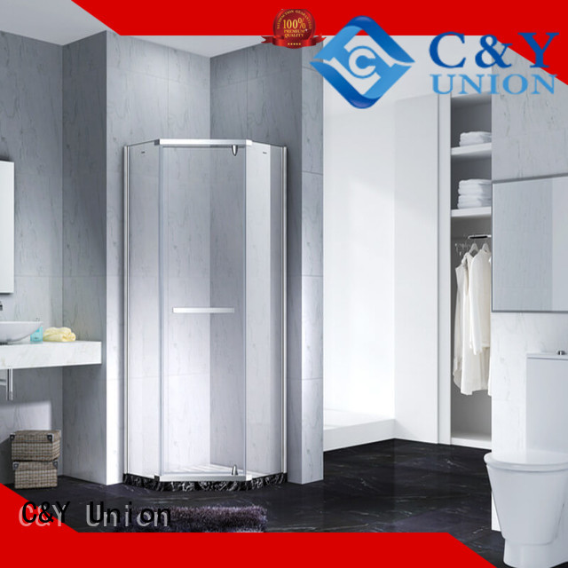 C&Y Union glass shower enclosures shower screen for tub