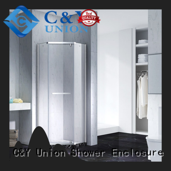 C&Y Union glass shower enclosures factory for bathroom