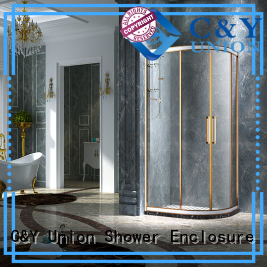 C&Y Union colorful shower cabin with sliding door for bathtub showers