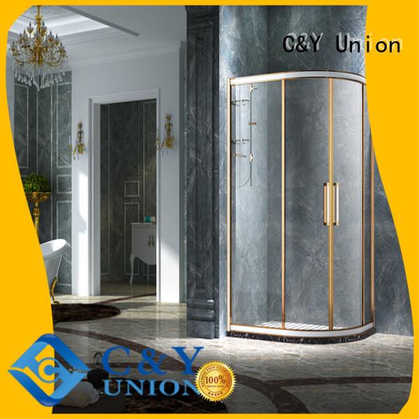 C&Y Union practical custom framed shower doors with sliding door for corner