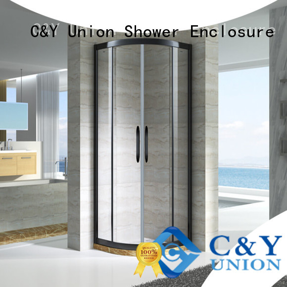 C&Y Union design corner shower enclosures for tub for standalone showers