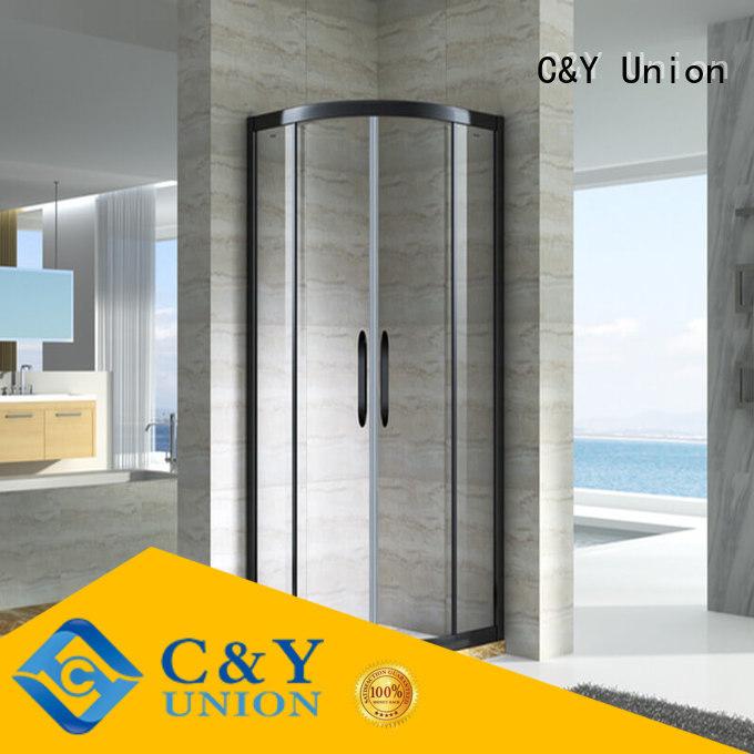 C&Y Union stainless steel chrome framed shower door design for bathroom