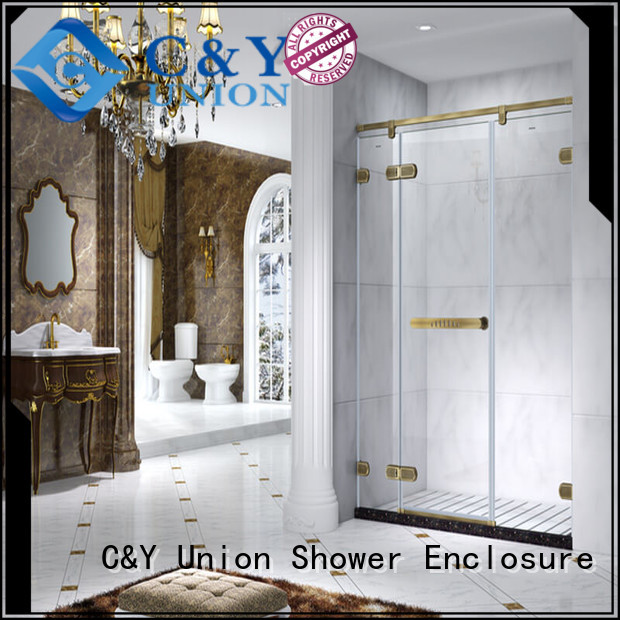 elegant frameless shower enclosure easy clean for bath
