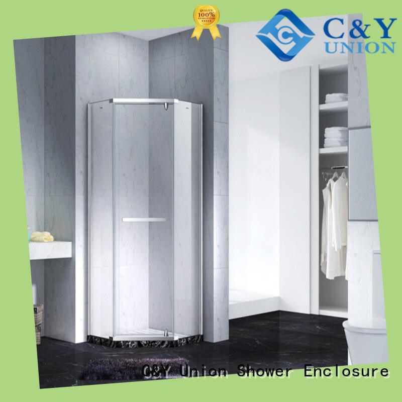 high quality semi frameless shower door factory for bathroom