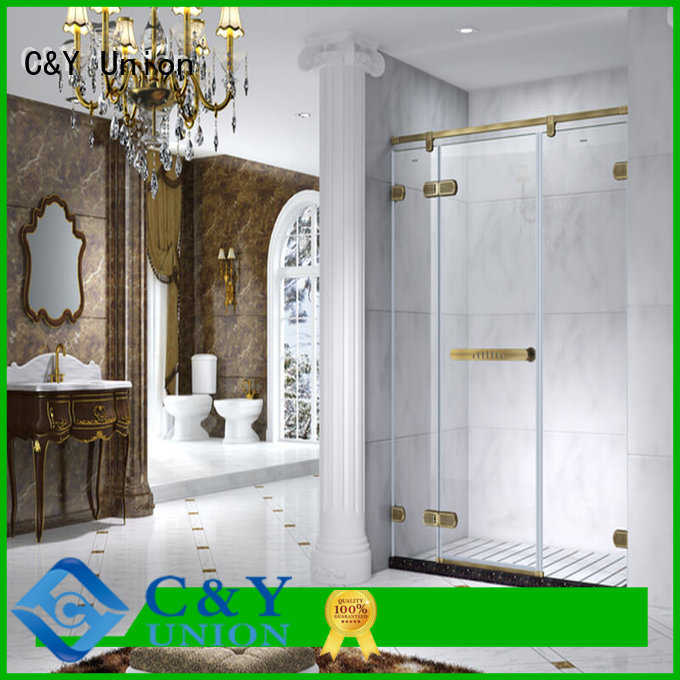 C&Y Union practical semi frameless shower door shower screen for bath