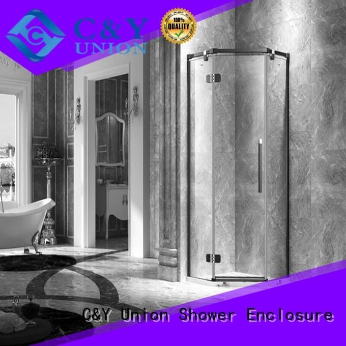 semi glass shower enclosures design for shower room C&Y Union