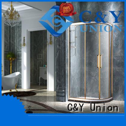 C&Y Union custom framed shower doors manufacturer for bath