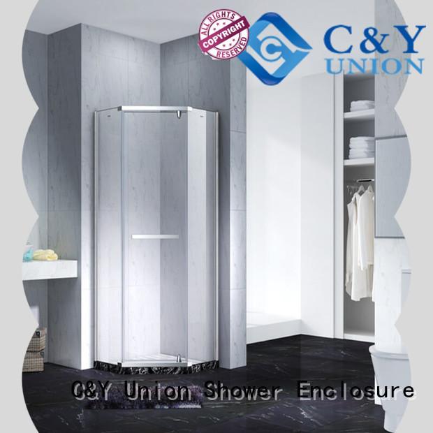 C&Y Union firm frameless glass shower shower screen for bathroom