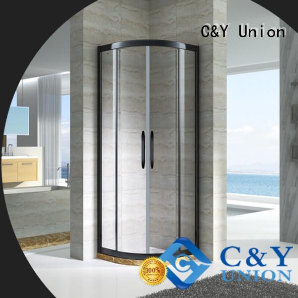 C&Y Union semi framed shower for bathtub showers