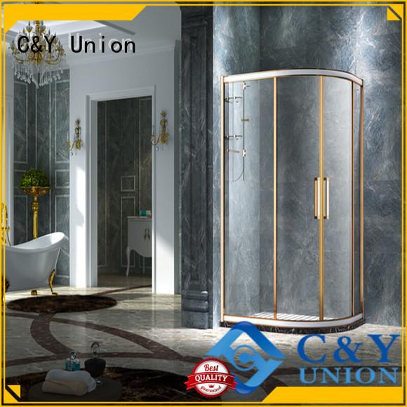 C&Y Union framed glass shower enclosure for shower room