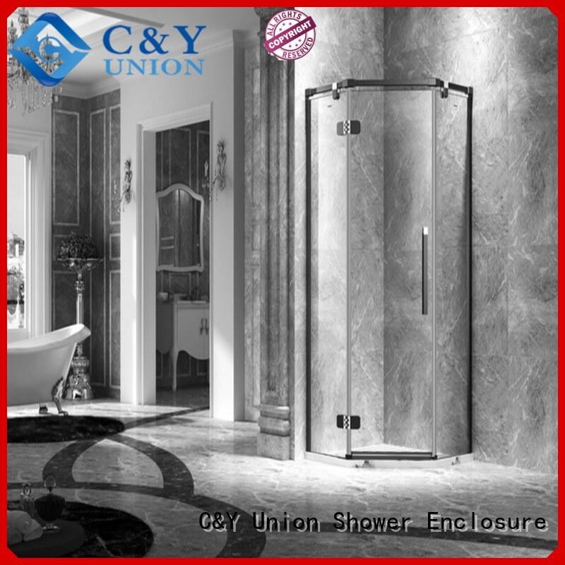 C&Y Union elegant semi frameless shower for bath