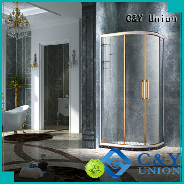 C&Y Union aluminum shower cabin manufacturer for corner