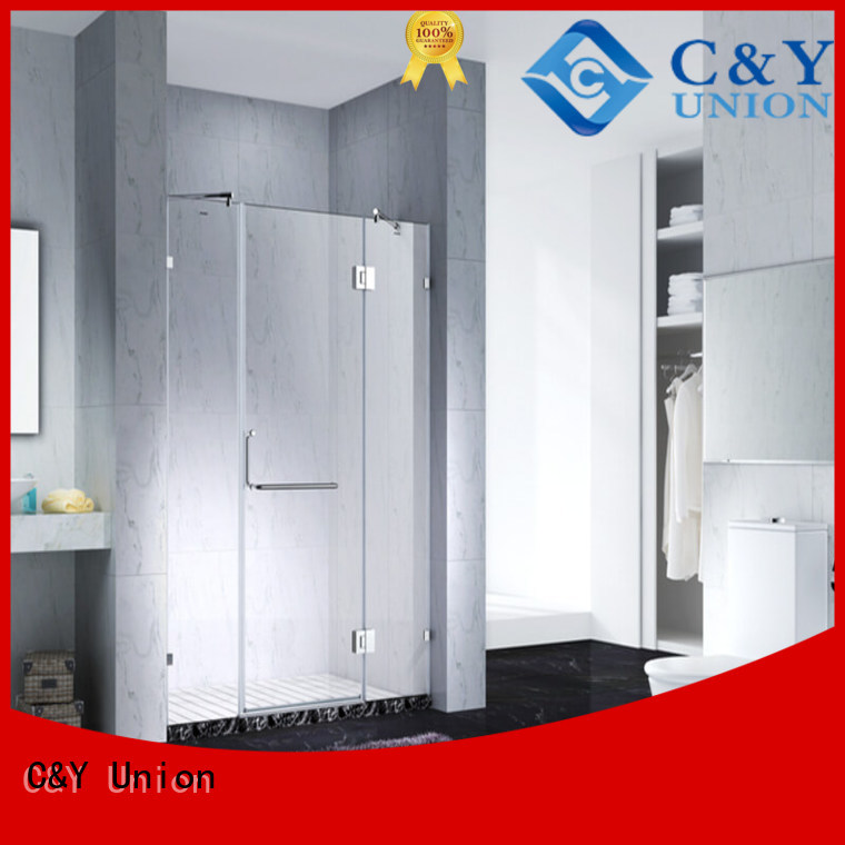 C&Y Union firm frameless glass doors shower screen for shower room