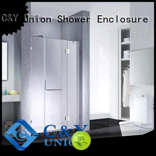 elegant semi frameless shower door cabin for tub