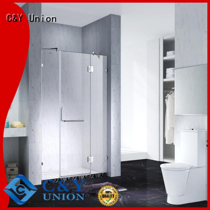 C&Y Union practical semi frameless shower door for shower room