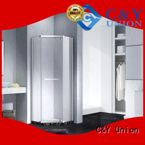 C&Y Union frameless glass doors cabin for bathtub