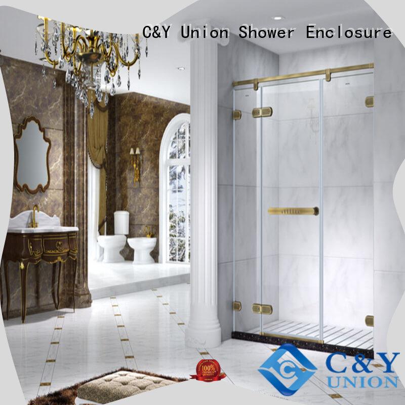 firm semi frameless shower door for bathtub