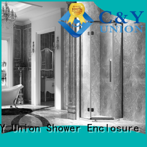 C&Y Union practical frameless shower cubicles for tub