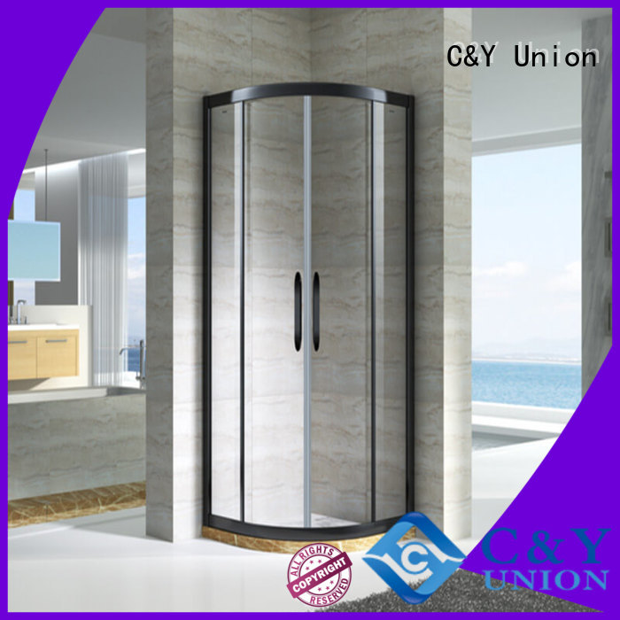 C&Y Union semi framed shower with sliding door for shower room