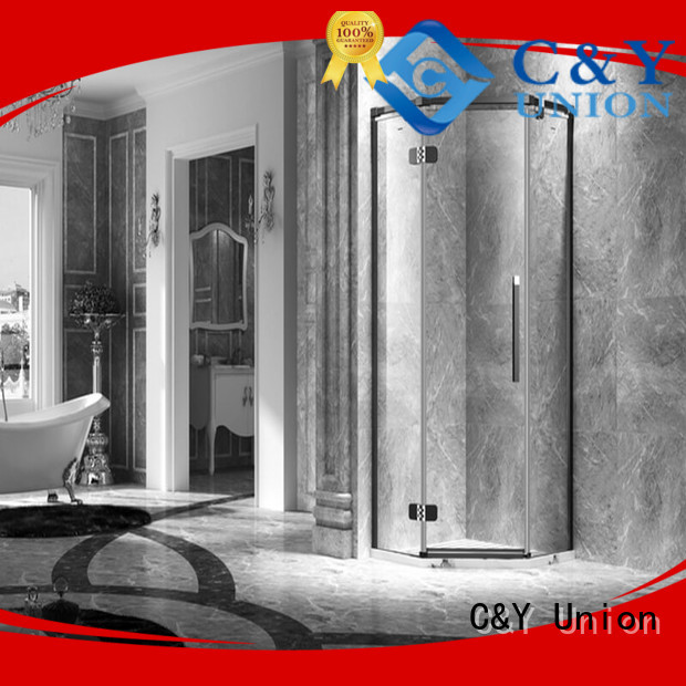 C&Y Union high quality frameless glass shower shower panels for bagnio
