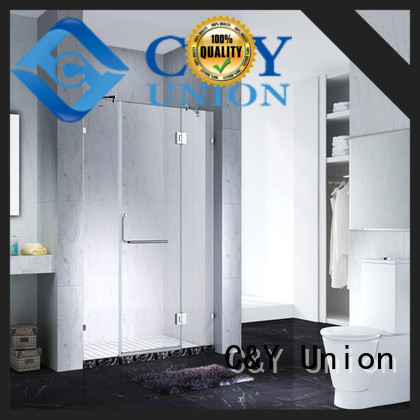 C&Y Union elegant frameless shower shower screen for shower room