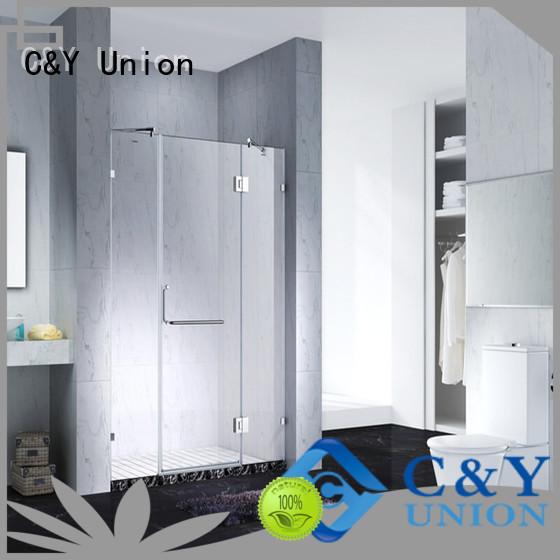 C&Y Union frameless glass doors easy clean for bathroom